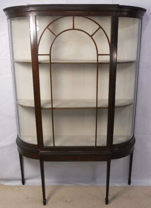 Edwardian Vitrinenschrank 1890 Mahagoni Massivholz SA2042a