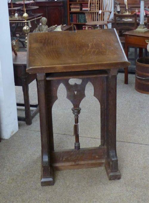Antikes Eichenpult, Gotik, 19. Jahrhundert
