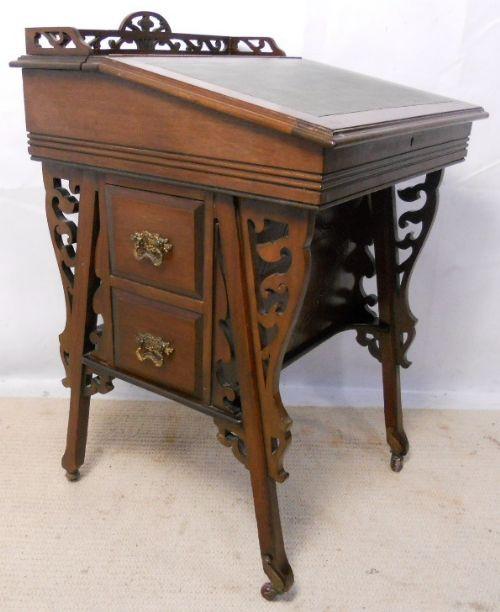 Original Edwardianische geschnitzter Mahagoni Davenport-Schreibtisch von ca. 1900