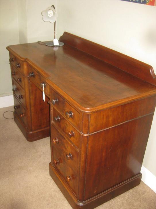 Viktorianischer Mahagoni Schreibtisch von ca. 1880