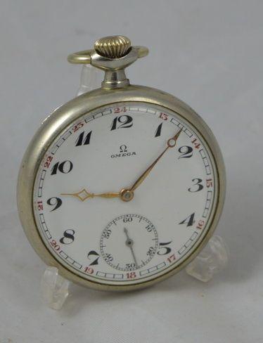 Original Omega Taschenuhr, Metallgehäuse, 1920