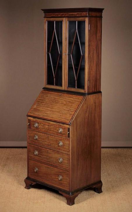 Original antiker Edwardian Sekretär Bücherschrank, 1910