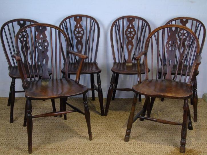 Original Stuhl Set Harlekin Stühle, 19. Jahrhundert
