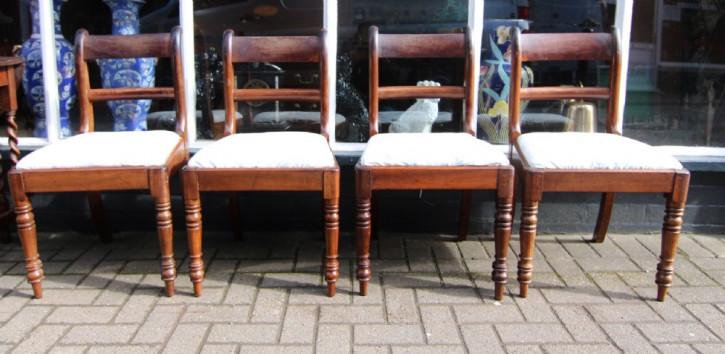 Ein Original antikes Set von 4 Stühlen aus Mahagoni, Late Georgian