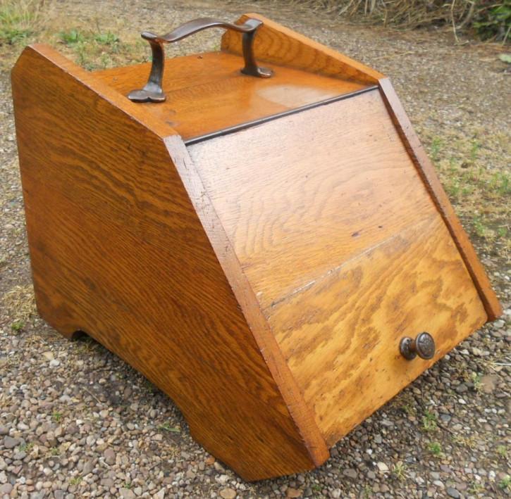 Edwardianische Eichen Kohle Box von ca. 1890