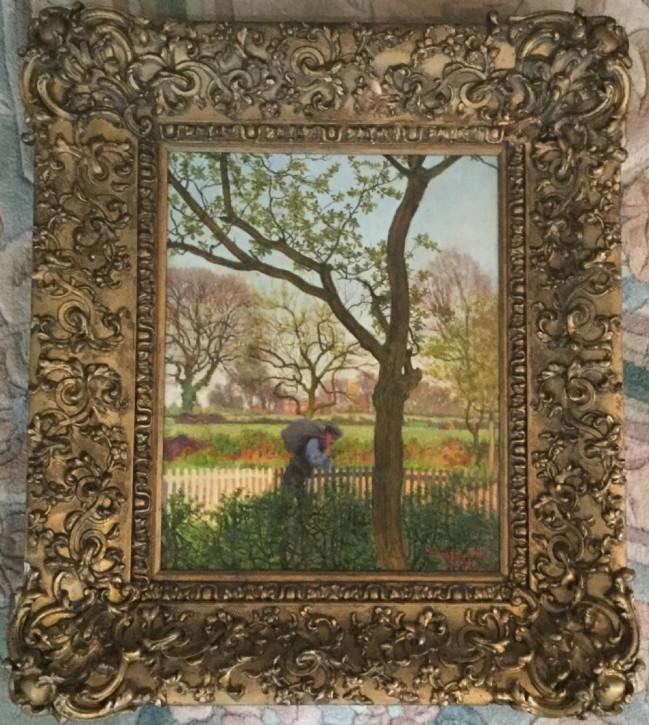 "William Savage Cooper Ölgemälde ""View of althorne"" von ca. 1920"