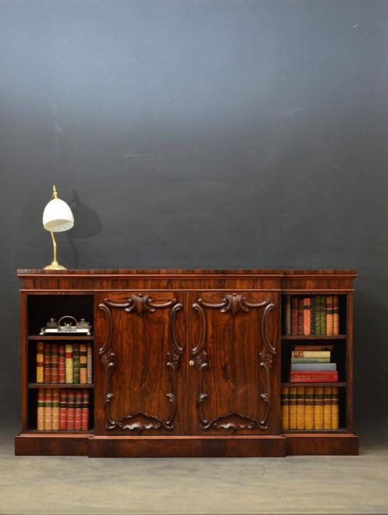 Schickes original viktorianisches Palisander Sideboard Bücherschrank Massivholz 1860