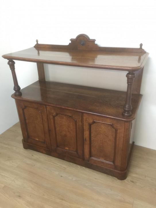Original viktorianisches Eiche Massivholz Sideboard 1870