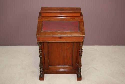 Original antiker Davenport Massivholzschreibtisch, Viktorianisch, 19. Jahrhundert