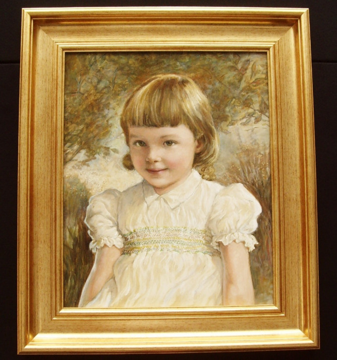 Ölgemälde von Kathleen Winifred Molesworth (3jähriges Mädchen)
