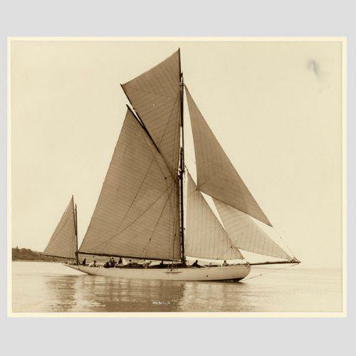 Jachtnebel, früher silberner Fotodruck von Beken of Cowes, 1910
