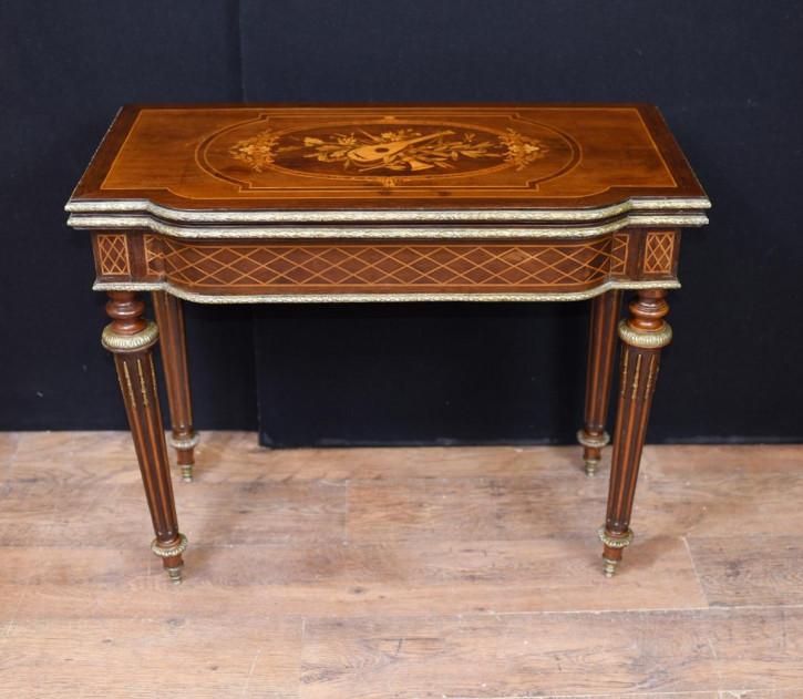 Original antiker Kartentisch, Spieltisch, Frankreich, 1880