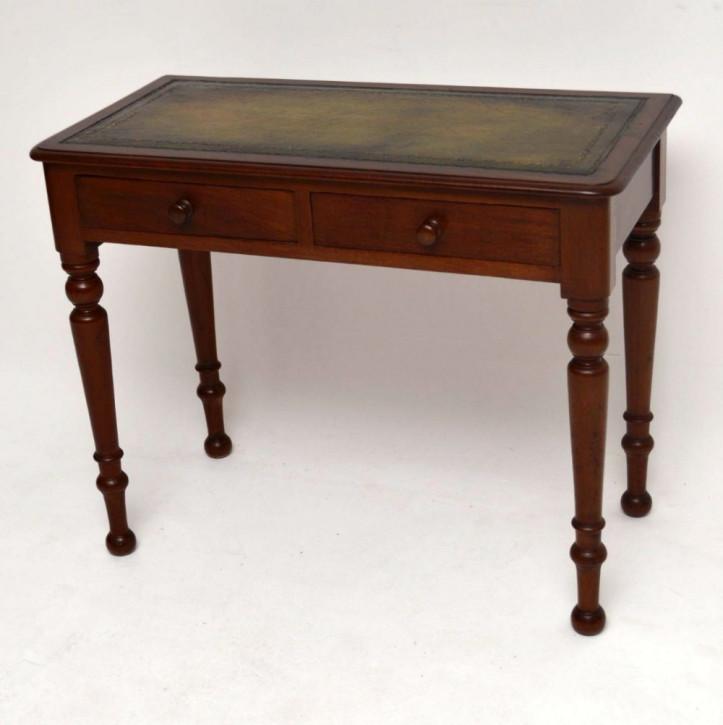 Antiker Original Viktorianischer Mahagoni Schreibtisch, 1860