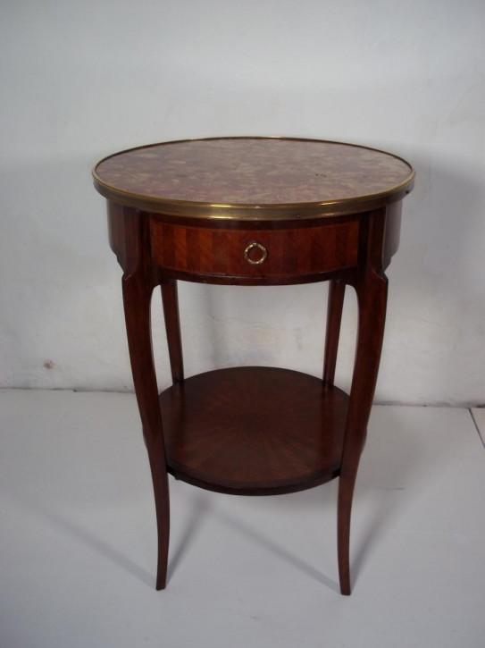 Original antiker Beistelltisch, Mahagoni, rund, 1870