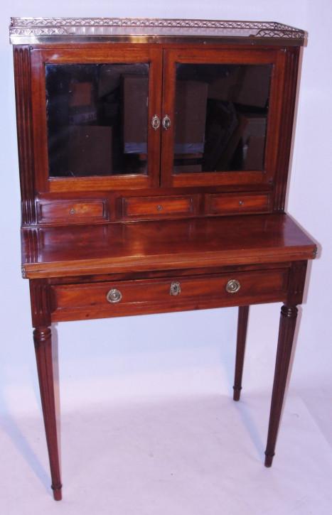 Französischer Mahagoni bon heure du jour/ kleiner, zierlicher Damen-Schreibtisch um 1860