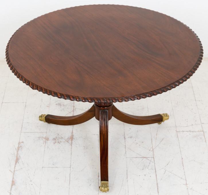 Runder Esstisch aus Mahagoni von ca. 1920