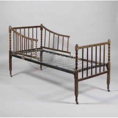 Original antikes Kinderbett, Walisische Eiche