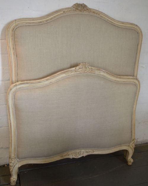 Antikes Einzelbett, Ludwig XV. Stil, Original spätes 19. Jahrhundert