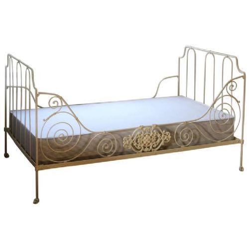Antikes französisches Bett, Eisen, 1920