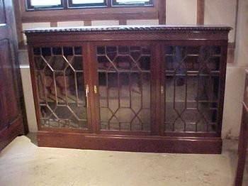 Antiker Victorian Mahagoni Bücherschrank mit verstellbaren Regalen, 1900