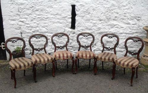 Antikes Set Mahagonistühle, Viktorianisch