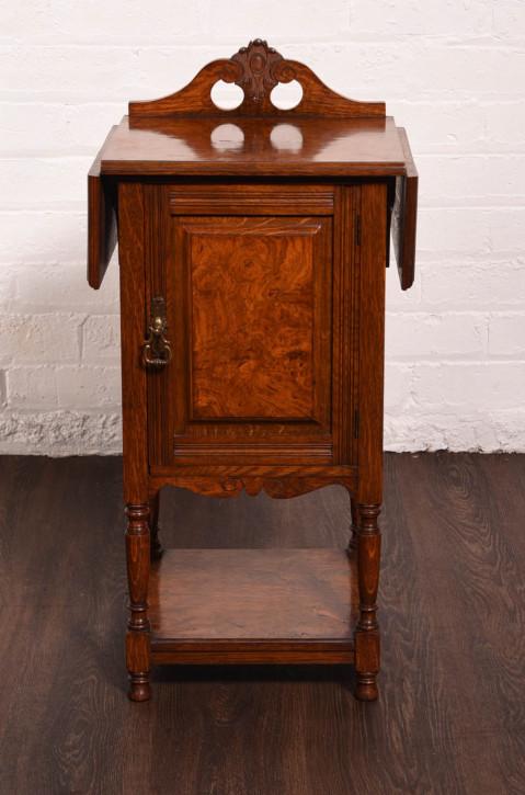 Edwardianischer Nachttisch aus Palisander-Eiche in außergewöhnlicher Qualität von ca. 1900