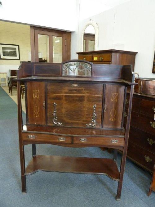 Schreibtischschrank von ca. 1910 edwardian  Massivholzschrank