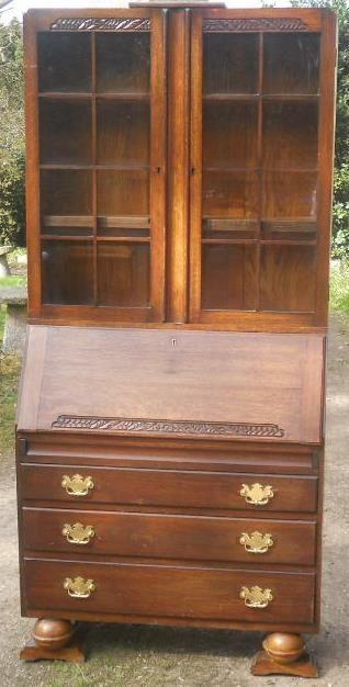 Art Deco Bücherregal aus Eichenholz cvon ca. 1930