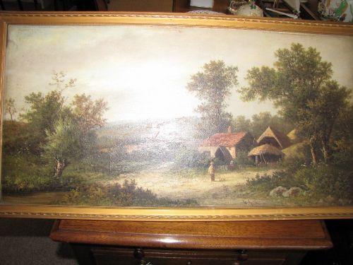 Atemberaubendes Ölgemälde, 19. Jahrhundert, auf Leinwand, von W. Yates