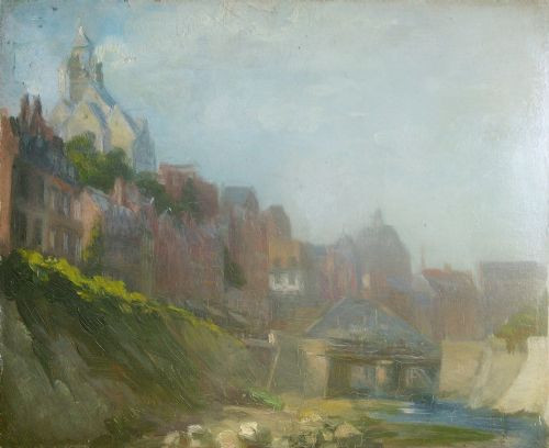 Französische Landschaftsmalerei, Ölmalerei, Rouen Schule, 1910/20