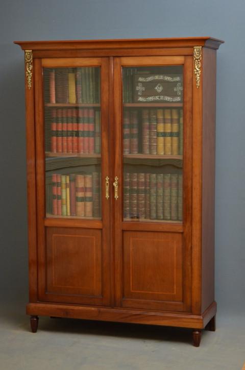 Viktorianisches Mahagoni glasiertes Bücherregal von ca. 1880