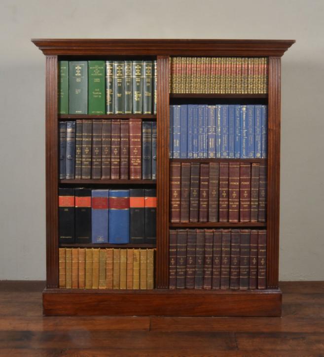 Offenes Bücherregal aus Mahagoni von ca. 1900