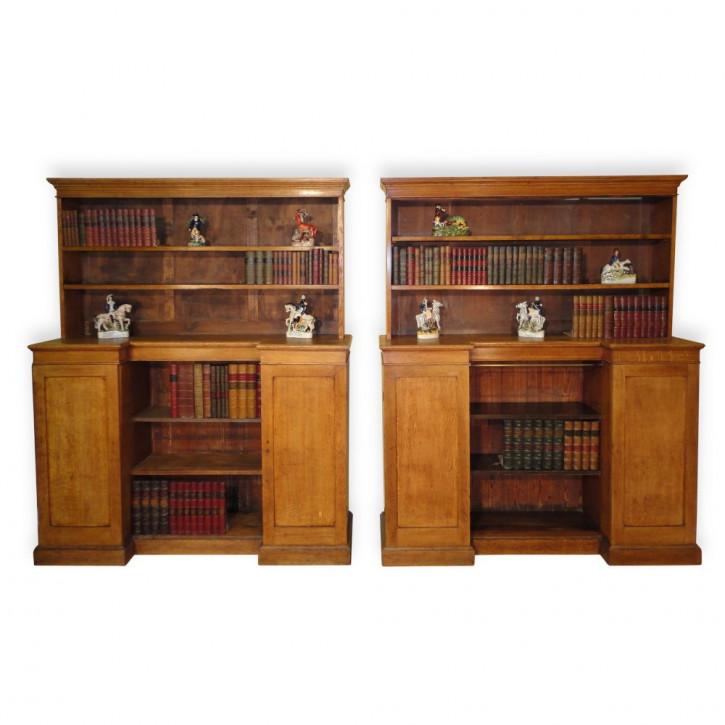 Antikes Paar arts & crafts Bücherregale aus Eiche aus der zweiten Hälfte des 19. JH