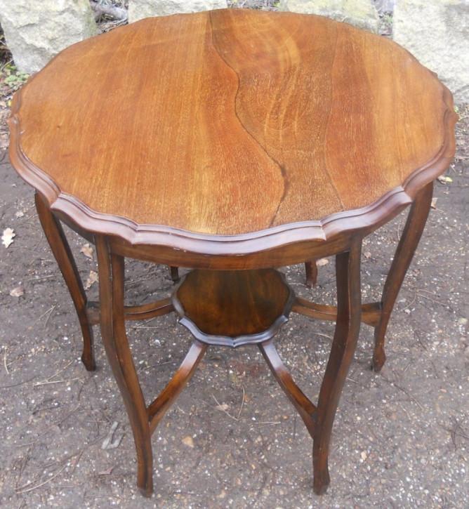 Edwardianischer Mahagoni Tisch original antik 1900