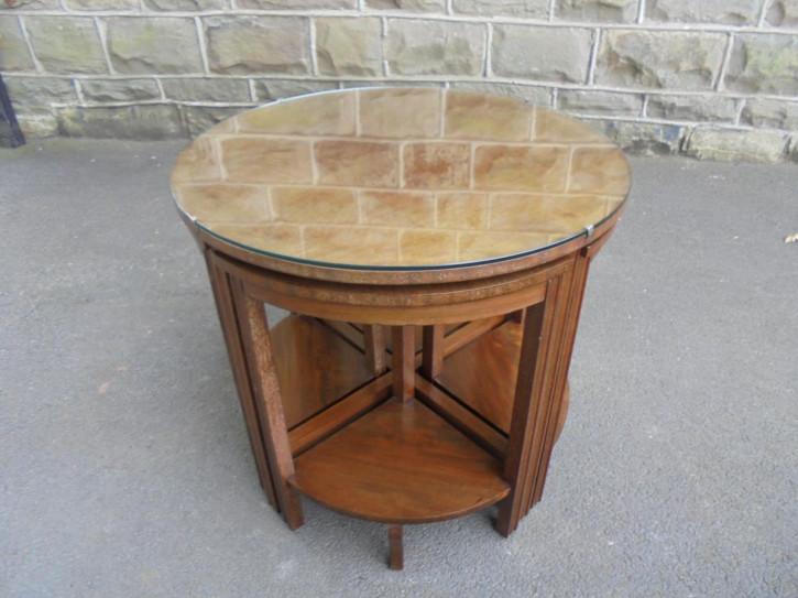 Edwardianisches Set Tische 5 Stück Mahagoni original antik 1910