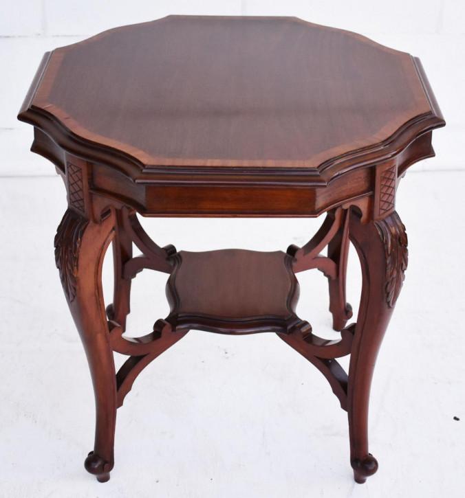 Viktorianischer Beistelltisch Mahagoni antik 1850