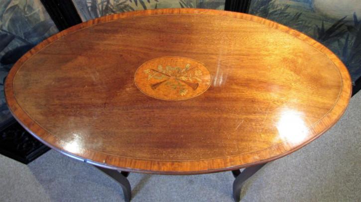 Original Edwardianischer Massivholz mahagoni Beistelltisch englisch 1850