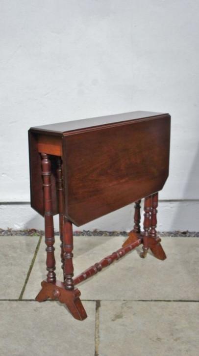 Original viktorianischer Mahagoni Sutherland Beistelltisch Massivholz 1850