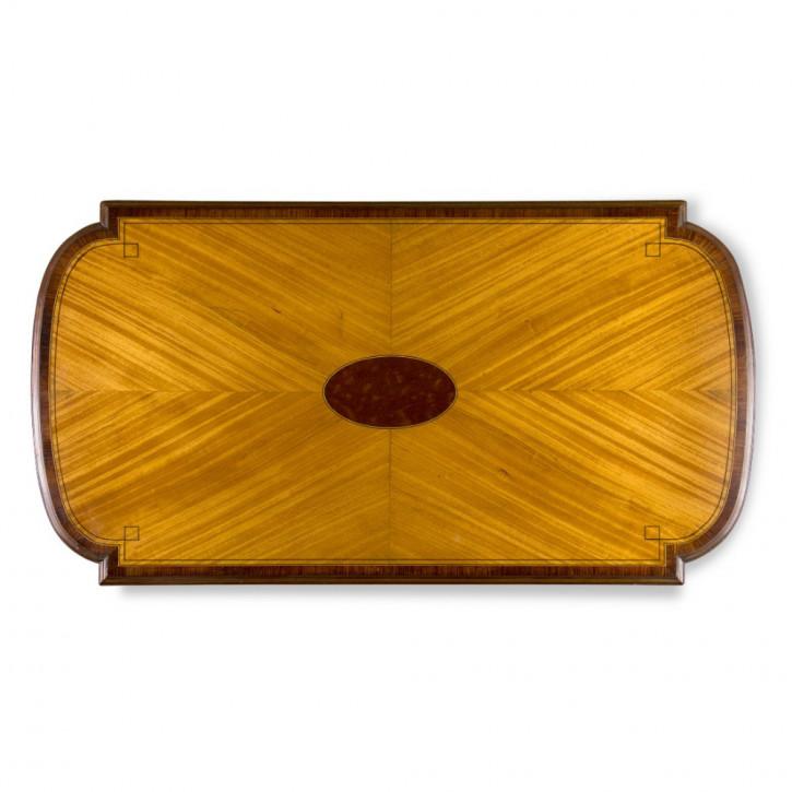 Edwardianischer antiker Beistelltisch Satinholz massiv englisch 1900