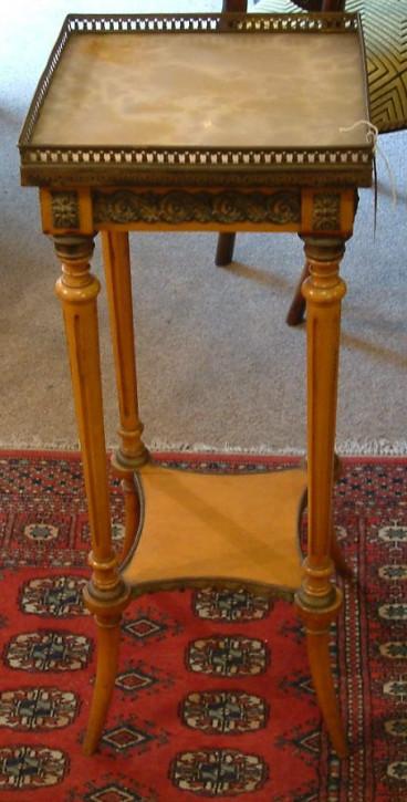 Original antiker französischer Bronzegold Beistelltisch 1850