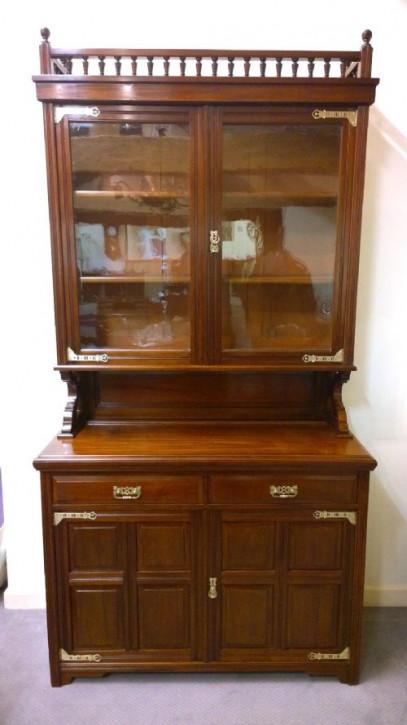 Englischer original antiker Mahagoni Wohnzimmerschrank Buffetschrank massiv englisch 1870