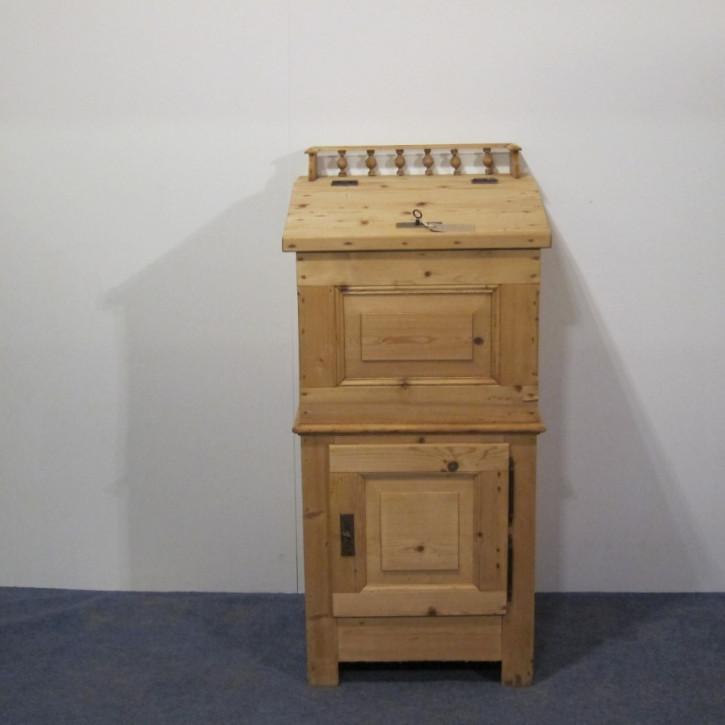 Englisches original antikes Lehrpodest Podest Pult Massives Weichholz Kiefer englisch 1880