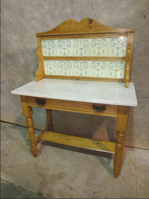 Original antiker viktorianischer Waschtisch Weichholz Kiefer massiv englisch 1850