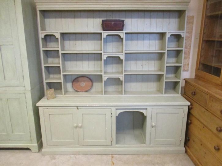 Original antiker Dresser Waschschrank Wohnzimmerschrank Schrank Weichholz Kiefer massiv 1890