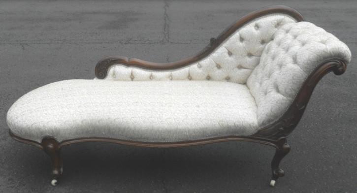 Original viktorianische englische Chaiselongue Chaise Longue Recamiere Sofa Mahagoni 1860