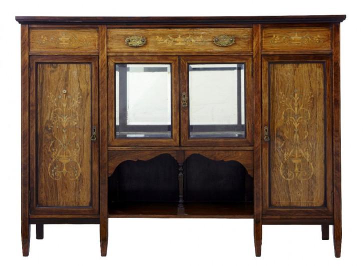 Edwardian Intarsien Palisander Sideboard original antik 1900