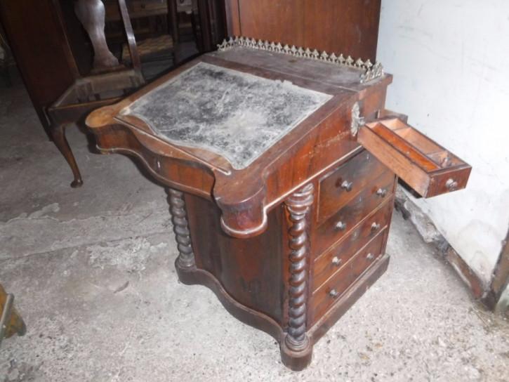 Original antiker englischer Palisander Davenport Sekretär 1840