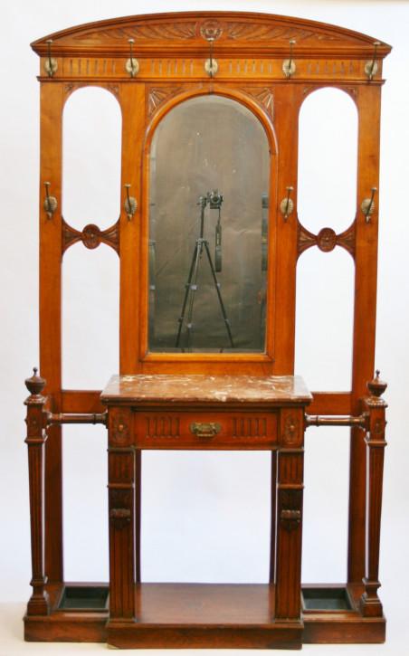 Original viktorianische Nussbaum Garderobe massiv antik englisch 1870