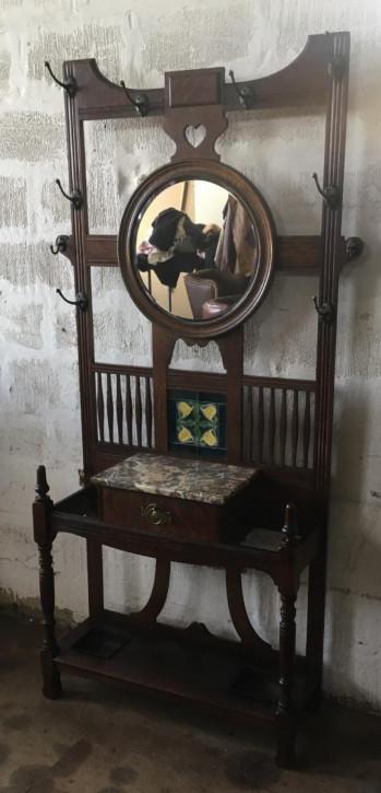 Viktorianische original Garderobe Eiche massiv englisch antik 1850