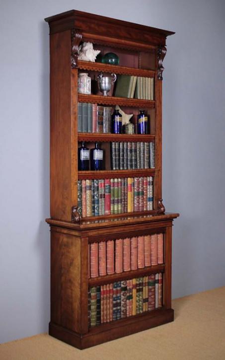 Hohes viktorianisches antikes Mahagoni Bücherregal Bücherschrank original englisch 1850